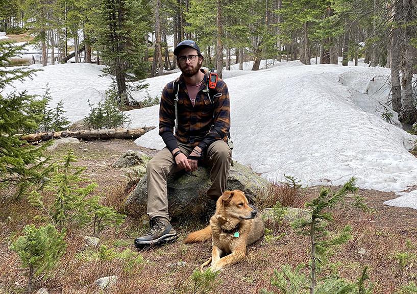 Caleb & Ranger at Timberline Lake