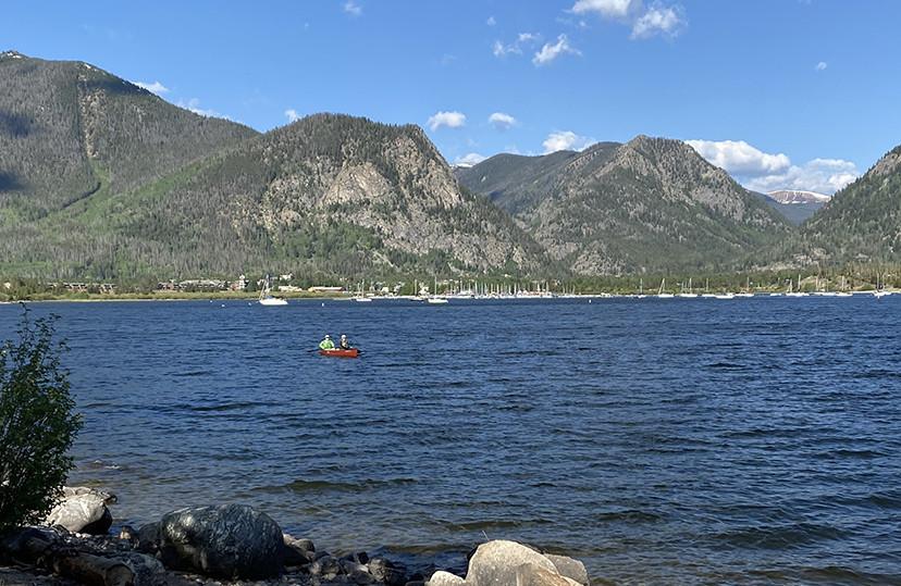 Canoe on Lake Dillon