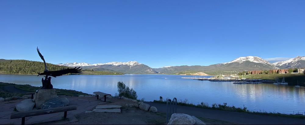 Dillon Reservoir and the Dillon Marina