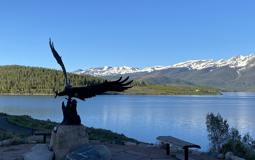 Eagle Carving at Dillon Reservoir