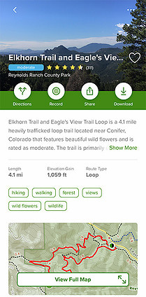 Hiking Trails in Colorado Elkhorn Trail and Eagles View Trail Loop