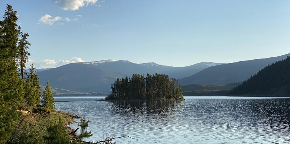Island on Lake Dillon