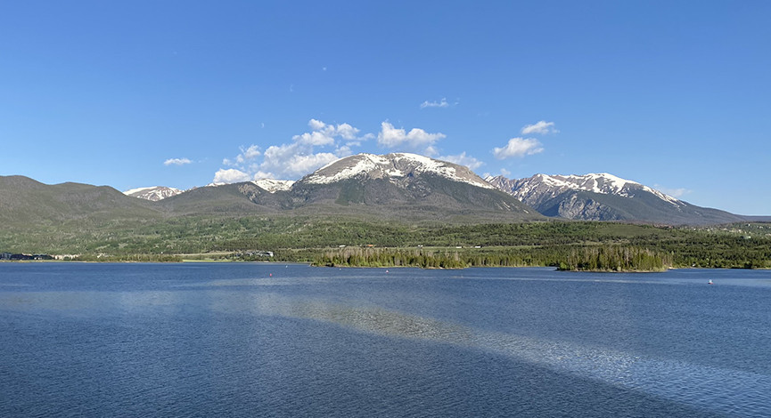 Looking North over Lake Dillon