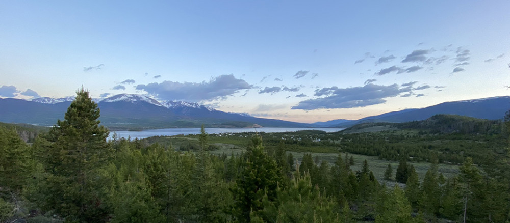 Looking North Towards Lake Dillon and Silverthorne Colorado