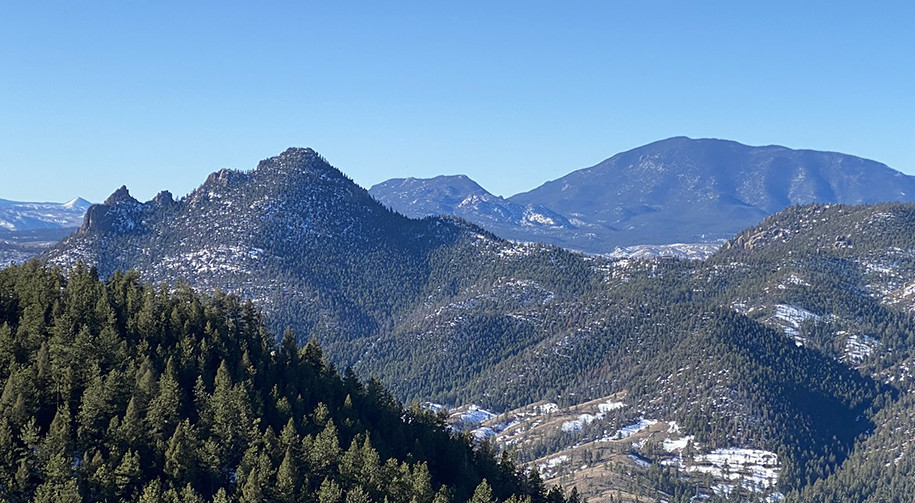 Looking southwest at the Rocky Mountains