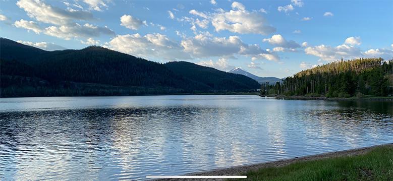 Sunrise over Dillon Reservoir